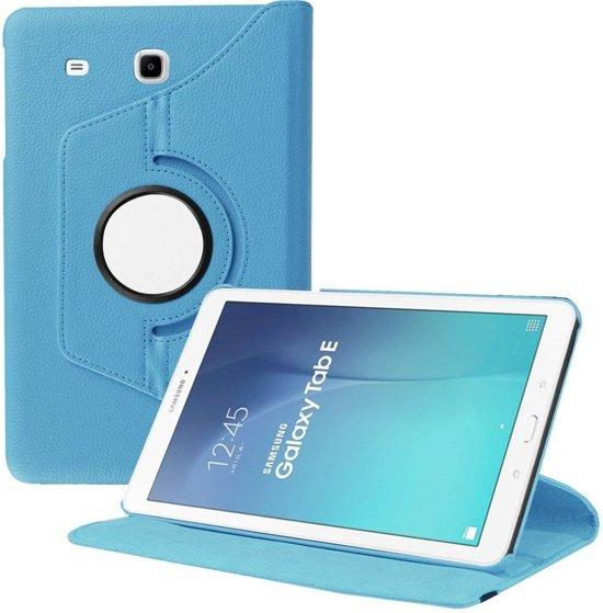 Samsung Galaxy Tab E 9.6 inch SM - T560 / T561 Tablet Case met 360° draaistand cover hoes kleur Blauw in Spijkerboor