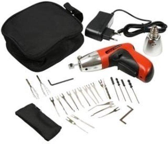 Professionele Elektrische Lockpick Gun / Pick Gun - Complete set - Lockpicking Tool