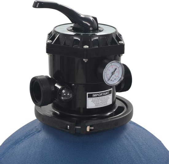 vidaXL Zwembadzandfilter met 6-positie ventiel 560 mm blauw