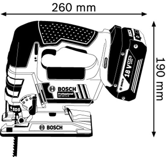 Bosch Professional GST 18 V-LI B Accu decoupeerzaag - Zonder accu en lader - Met L-BOXX