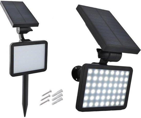 48 led wand solar verlichting schijnwerper zonne energie met schemer sensor lamp tuinspot