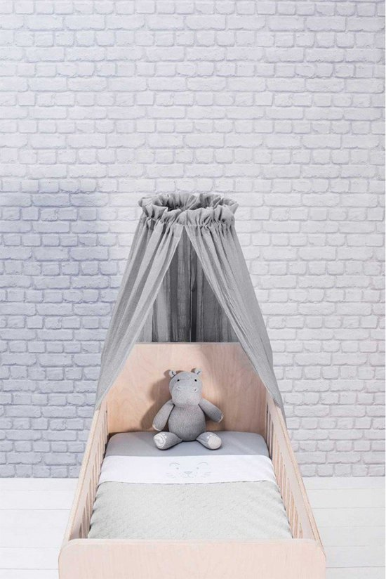 Deken 100x150cm Fancy knit soft grey