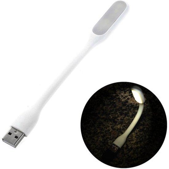 GadgetBay Draagbare USB LED 2.0 lamp Flexibel portable Bureaugadget wit lampje