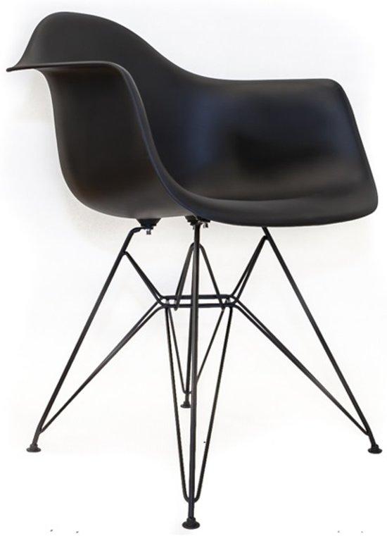 bol.com | Designstoel Zwart met zwart frame #DSA - Meubelaxi