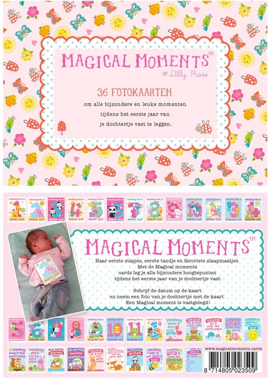 Magical Moments Fotokaarten Box - Baby Meisje