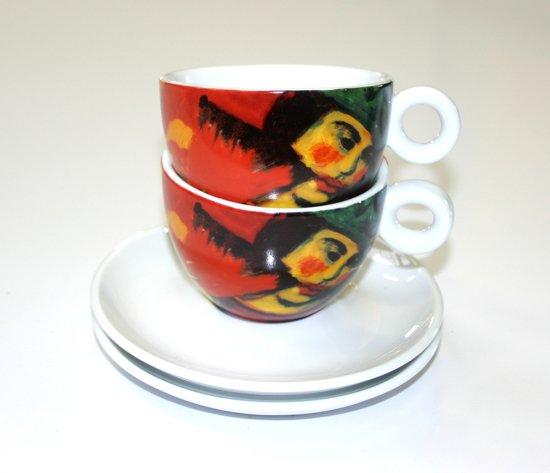 Vincent van Gogh Expressionisme Set van 2 Cappuccino kop en schotels