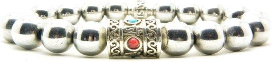 Beaddhism - Armband - Hematiet -  Nepal - 10 mm - 22 cm