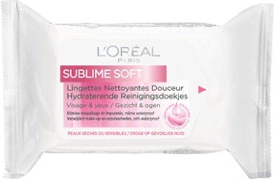 L'Oréal Paris Sublime Soft Reinigingsdoekjes - 25 stuks