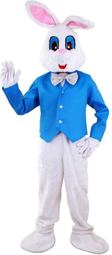 Verwonderend bol.com | Konijn paashaas pak kostuum S-M wit blauw mascotte EI-43