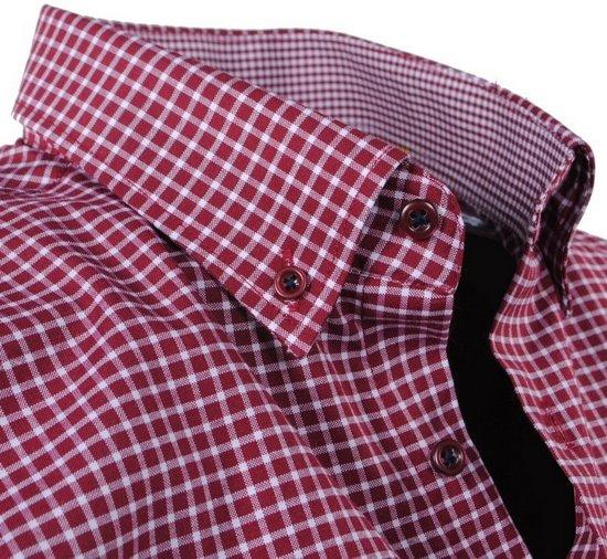 Borstzak Heren Bordeaux Overhemd Polo Enrico Rood Geblokt wz4pInq