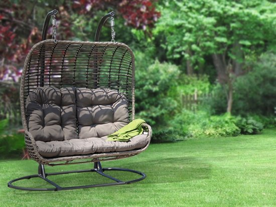 Magnificent Bol Com 24Designs Relax Hangstoel Maui 2 Persoons Egg Caraccident5 Cool Chair Designs And Ideas Caraccident5Info