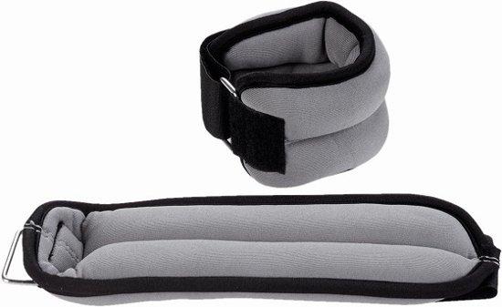 RS Sports Enkelgewichten en Polsgewichten – Gewichtsmanchetten 2 x 0,5 kg – neopreen - zwart / grijs