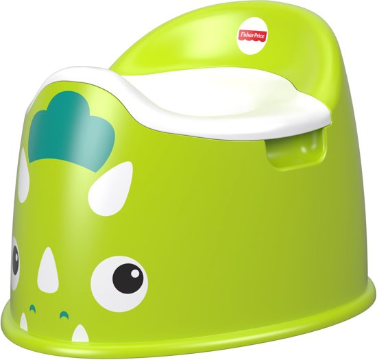 Fisher-Price Plaspotje Dino Potty Junior 28 Cm Groen/wit