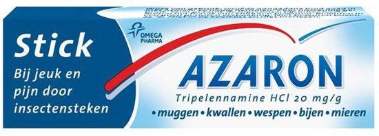 Azaron stick - bij jeuk en pijn door insectensteken  -  Muggen, kwallen, wespen, bijen - 5,7g