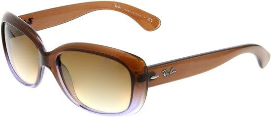 Ray-Ban RB4101 860/51 Jackie Ohh Zonnebril - Bruin / Bruin Gradiënt - 58mm