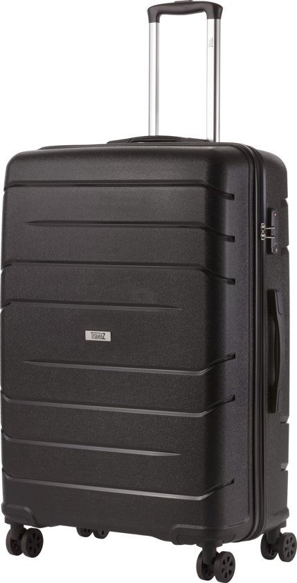 TravelZ - Big Bars - Grote Reiskoffer 78 cm - Trolley koffer met TSA-slot - Zwart