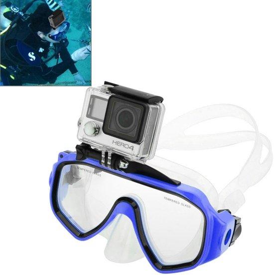 Watersport Duikuitrusting Duikbril Zwembril met houder voor GoPro NIEUW HERO / HERO6 / 5/5 sessie / 4 sessie / 4/3 + / 3/2/1, Xiaoyi en andere actiecamera's (blauw)