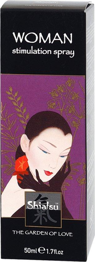 Shiatsu stimulerende spray voor vrouwen