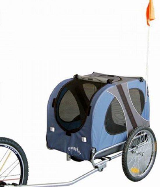 Topmast Hondenfietskar - Fietskar -Hondenaanhanger Medium  Blauw