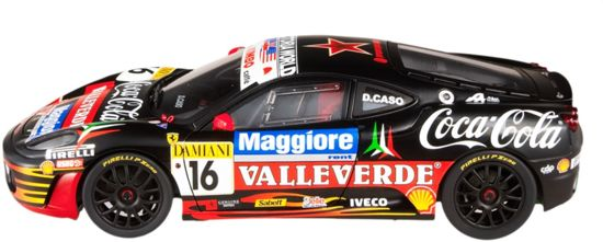 Ferrari F430 Challenge No.16,Coca Cola Italian Championship 2007 Caso Hotwheels Elite 1-18