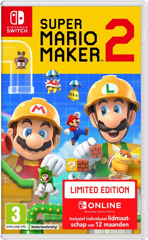 Cover van de game Super Mario Maker 2 - Limited Edition - Switch