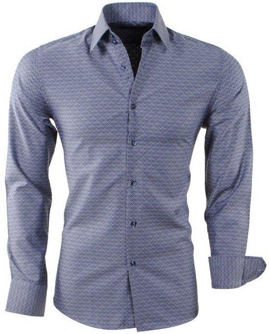 Heren Slim Fit Overhemd.Grijs Geruit Donker Montazinni Fit Overhemd Heren Slim Wyuqefsq