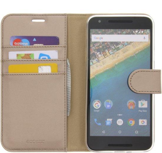 Portefeuille Livret Tpu Pour Nexus 5x Lg - Or vgf4TNk