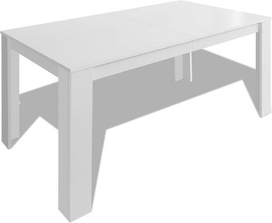 Hoogglans Witte Eettafel 140.Bol Com Vidaxl Eettafel 140x80x75 Cm Wit