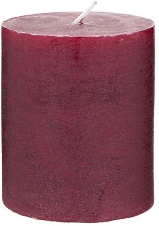 Rustic Cylinderkaars wijnrood (8 cm) Valentinaa