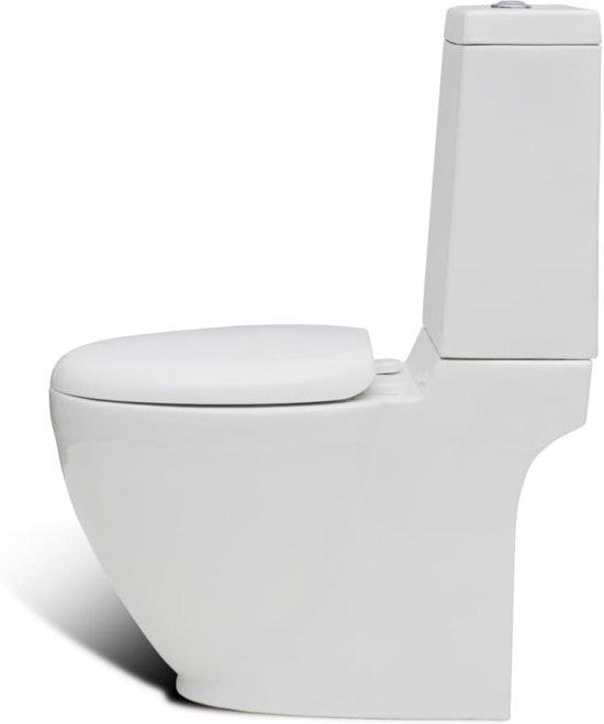 vidaXL Staand toilet en bidet set (wit)