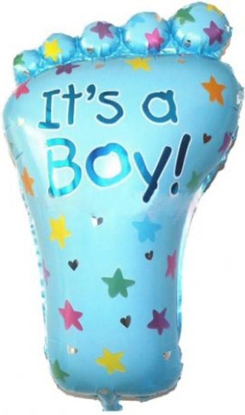 Blauwe Ballon Voet - Kraamcadeau – Geboorte versiering – Geboorte ballonnen – Feest versiering – Baby Shower – Geboorte jongen