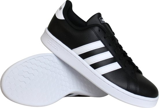 adidas Grand Court Heren Sneakers - Core Black/Ftwr White/Ftwr White - Maat  43.5