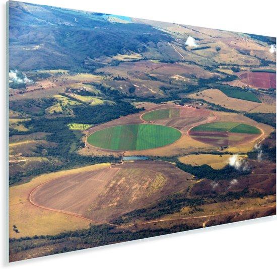 Foto van bovenaf met uitzicht op het Braziliaanse landschap in Goiânia Plexiglas 120x80 cm - Foto print op Glas (Plexiglas wanddecoratie)