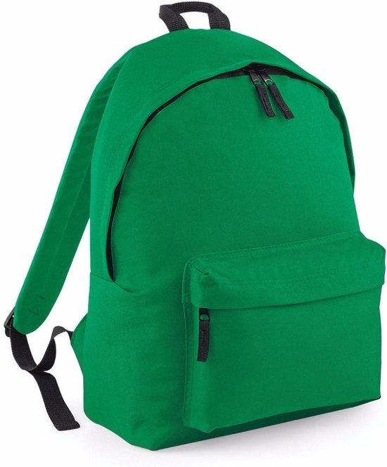 659a35e72a5 bol.com | Hippe rugtas met voorvak groen 18 liter - rugzak