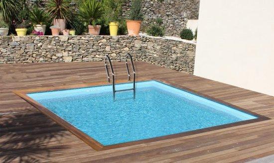 Gre Zwembad Loire set grenen vierkant 300