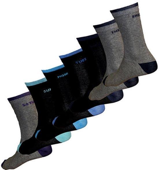 Spiksplinternieuw bol.com | 7Days Sokken - Heren 39-42 - Zwart - Sokken in dagen van JD-07