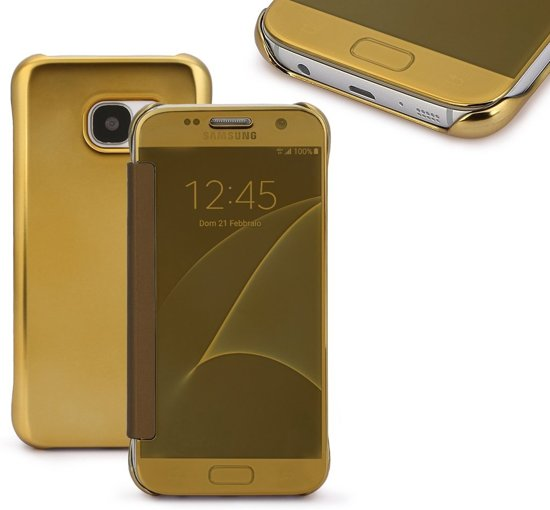Clear View Cover voor Samsung Galaxy S7 – Goud