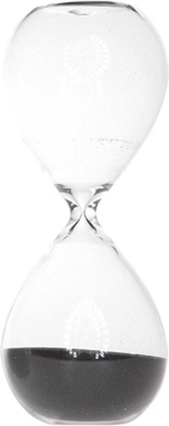 Afbeelding van het spel Zandloper met zwart zand van glas 30 min
