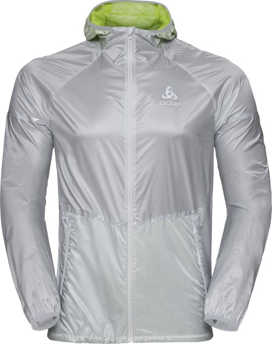 Odlo Hardloopjas Zeroweight Jacket - Silver - Acid Lime - XL