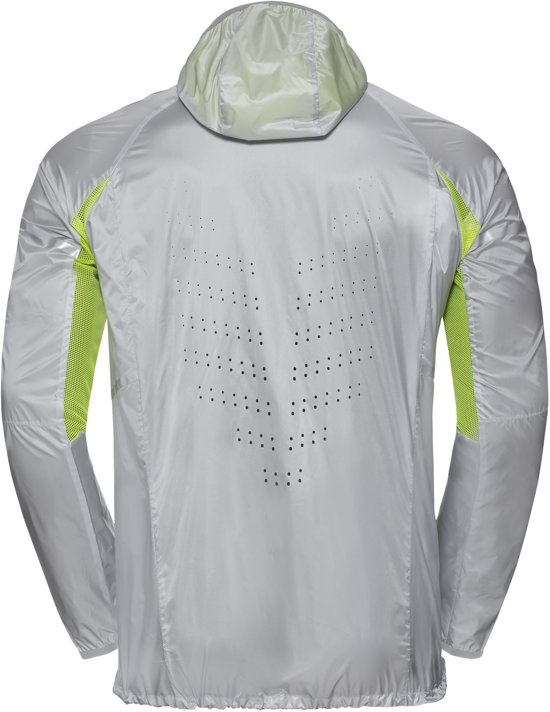 Silver Zeroweight Hardloopjas Xl Acid Jacket Odlo Lime q5tx65