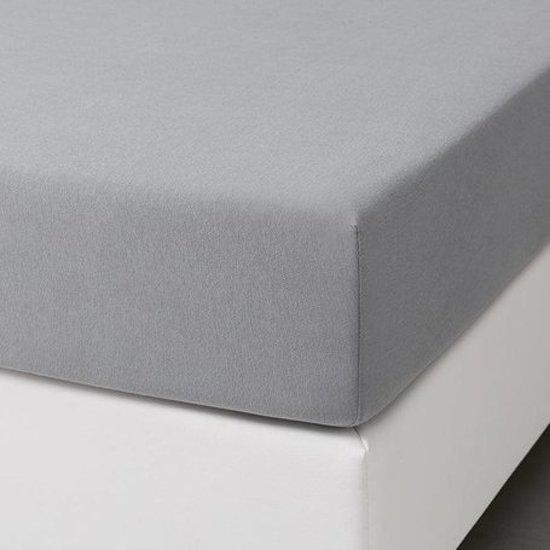 Hoeslaken jersey 80x210 100% stretch katoen Licht Grijs 40cm hoekhoogte. Exclusieve Kwaliteit!