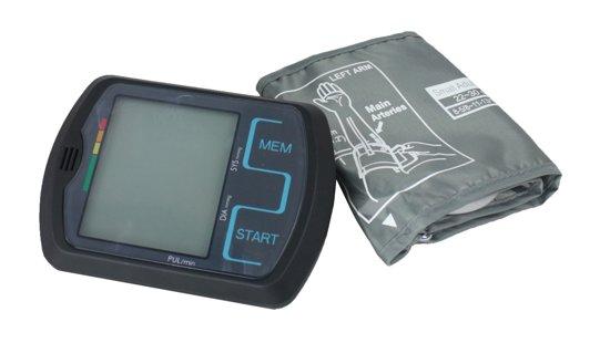 OBBOmed - Digitale Touch Screen Bloeddrukmeter - om de bovenarm - met groot scherm - gebruiksvriendelijk en snel meten - incl. waarschuwingssignalen - MM 4750