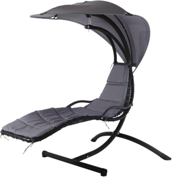 Zweefstoel Voor Buiten.Bol Com Hangstoel Fiji Grey