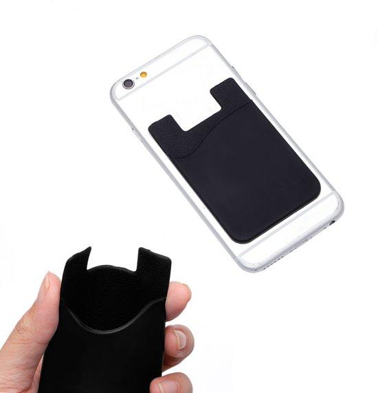 2601e3ce8d6 Sticky Pasjeshouder/kaarthouder voor bijna alle smartphones! Siliconen  zwart cover hoesje