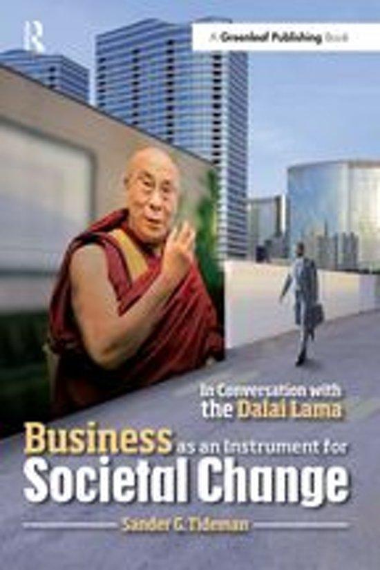 Boek cover Business as an Instrument for Societal Change van Sander G. Tideman (Onbekend)