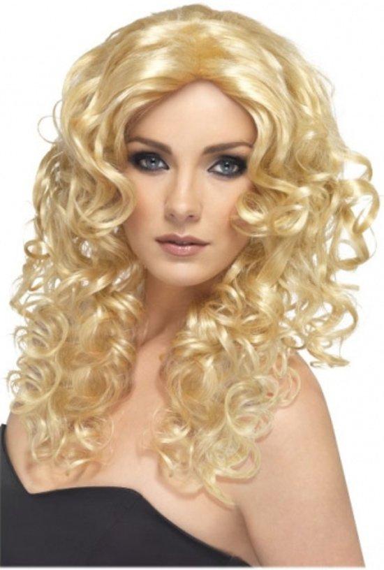 Blonde krullen lang