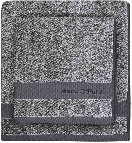Marc O'Polo Melange  Washandje - 16x22 - Anthracite/silver