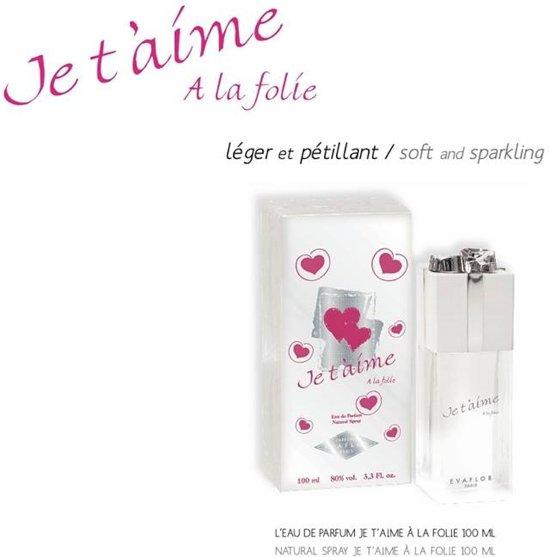 VAKANTIE AANBIEDING  ! = ! GRATIS  Je t'aime A la folíe Dames Parfum ( Bij deze bestelling krijgt u een CC 100 ML Eu de Parfum GRATIS)