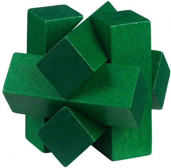 Moses Be Clever! Houten Smartpuzzel Groen 6 Cm