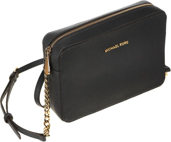 Michael Kors Jet Set L Dames Crossbodytas - Zwart